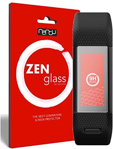 ZenGlass [2 Stück Flexible Glas-Folie kompatibel mit Garmin vivosmart HR+ Panzerfolie I Bildschirm-Schutzfolie 9H I (Kleiner Als Das Gewölbte Bildschirm)