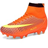 LIANNAO Men's Football Boots Boy's Soccer High-Top Spikes Soccer Football Shoes Kids Soccer Boots Cleats Outdoor Professional Training Shoes Sneakers Competition Shoes Unisex Teenager