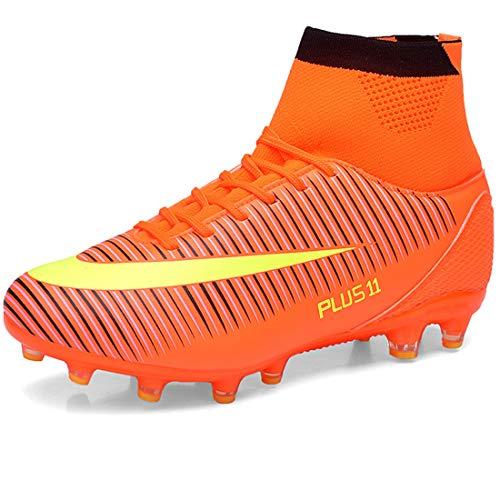 LIANNAO Voetbalschoenen high top spike voor heren, tieners trainingsschoenen outdoor-voetbalschoenen,Uniseks