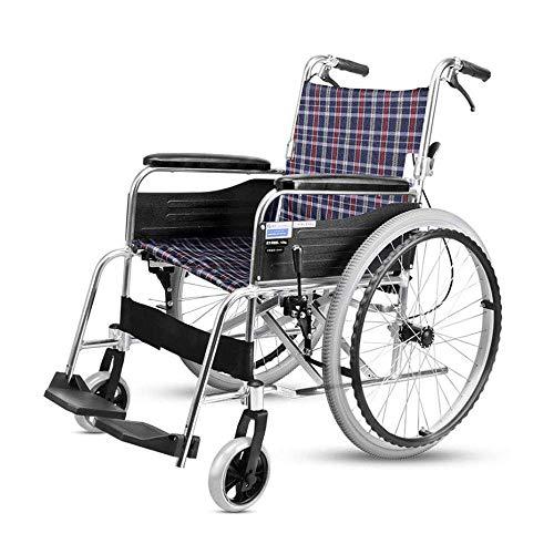 DLC Leichter, Zusammenklappbarer, Sicherer Rollstuhl, Leichter Und Benutzerfreundlicher Rollstuhl Mit Klappbaren Armen Und Hochklappbaren Beinstützen Für Zusätzlichen Komfort