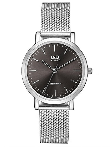 Citizen Q&Q QA21J212Y - Reloj de Pulsera para Mujer, Gris Oscuro/Plata