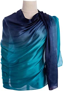 Cyzlann Women's Scarves 100% Silk Long Lightweight Scarfs for women