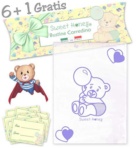 SweetHoney Bolsas transparentes para primeros auxilios, lista de nacimientos, bebés, hospitales, para bebés, para postparto, niño y niña (Lavanda)