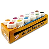 Quay PSC12 Acrylic Set-12 Colour Paint pots, Multicolour