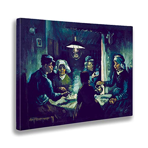 Giallobus - Schilderij - Vincent Van Gogh - Aardappeleters - afdrukken op doek - klaar om op te hangen - Verschillende formaten - 140x100 cm