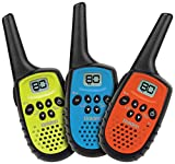 Uniden UH35-3 - 80 Channel Mini Compact UHF Handheld Radios: Triple Colour Pack