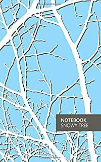 Notebook - Snowy Tree: (Sky Blue) Fun Notebook 96 Ruled/Lined Pages (5x8 inches / 12.7x20.3cm / Junior Legal Pad/Nearly A5)