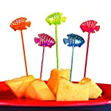 Fun Express Tropical Fish Party Food Picks (72 Pieces) Luau Party Supplies, Under the Sea Party...