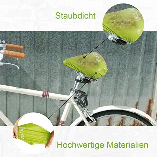 DATONG Sattelbezug wasserdichte Fahrradsattelabdeckung,elastische Wasserfeste Fahrradsattel Schutzhülle, Passend für den Meisten Fahrradsattel wie Rennrad, Mountainbike, Damenrad, E-Bike (Grün,2PCS) - 5