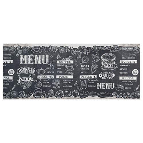 WohnDirect Tappeto da Cucina per Interni Fino a 10 m di Lunghezza • 100% Poliestere • Tappeto Cucina Antiscivolo • Facile da Lavare • 50 x 190 cm