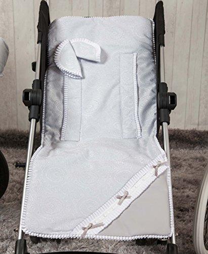 Babyline Bombón - Colchoneta ligera para silla de paseo, color gris