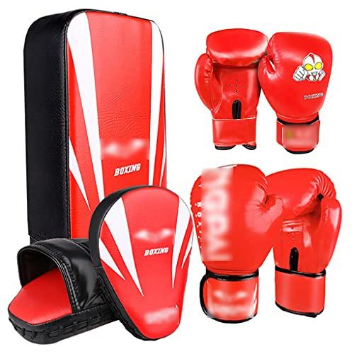 Guantes de Boxeo Guantes de Boxeo para niños Objetivo de Mano y Objetivo de pie Equipo de Entrenamiento Sanda Boy Conjunto de Entrenamiento de Boxeo para Adultos