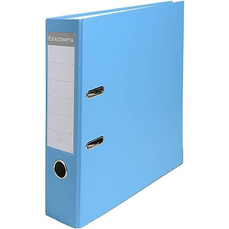 Exacompta - Réf. 918412B - 1 Classeur à levier A4 - Dos 80 mm - Mécanique 80 mm - Dimensions extérieures : 32 x 29 x 8 cm - Format à classer A4 - Coloris : Bleu clair