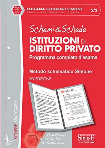 Schemi & Schede di Istituzioni di Diritto Privato: Programma completo d'esame - Metodo schematico Simone