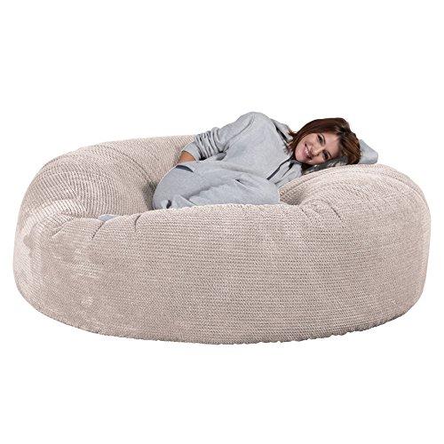 Lounge Pug®, 'Mega-Mammoth' Sofa Sitzsack XXL, Schlafsofa, Pom-Pom Creme