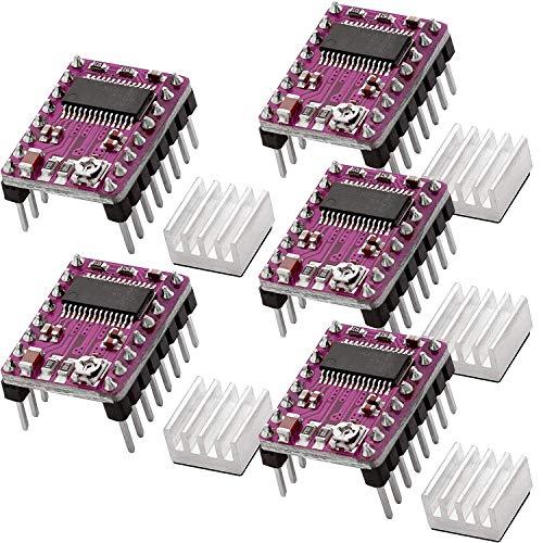 AZDelivery 5 x DRV8825 Stepper Driver Modulo con Dissipatore, compatibile con Arduino, RAMPE 1.4, CNC Shield, stampante 3d, Prusa Mendel incluso un E-Book!