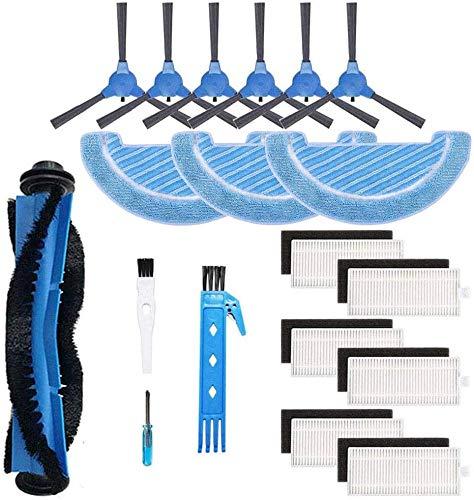 Remplacement pour Cecotec Conga Excellence 1090 Robot aspirateur Kit d'accessoires brosse principale filtre Hepa brosse latérale vadrouilles