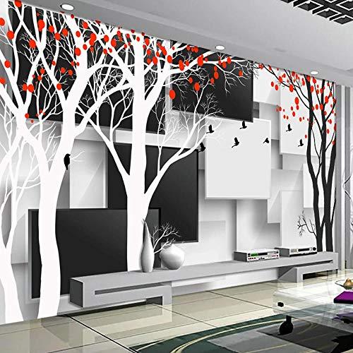 Murales de pared 3D personalizados papel tapiz fotográfico negro blanco celosía creativa...