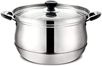 HRXD Stainless Steel Steamer Commercial Household Double-layer Steamer Thick Stainless Steel Steamer Large Capacity High Q...