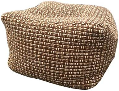 Pouf Cover Unstuffed Boho Ottoman Foot Stool Rest Cotton Linen Max 81% Large special price !! OFF