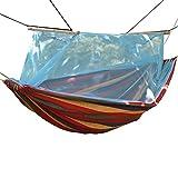 Hamacas Doble Engrosamiento Lienzo Camping Al Aire Libre Mosquitero Al Aire Libre Swing Park Beach Forest C