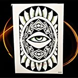 tzxdbh 5Pcs- Leopardo Grande con Diseño De ala Brazo Tatoo Body Art Tattoo Sticker Impermeable Tatoo Manga para Hombres Espalda Hhb262-En Tatuajes De G Hhb825