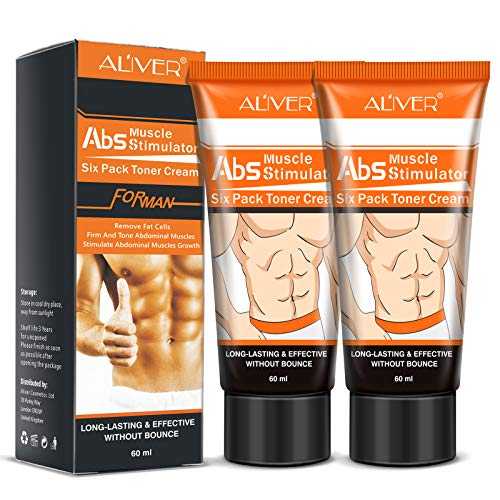 2 Pack Hot Cream for Belly Fat, Cellulite Cream Remove Abdominal Fat Sweating Lose Weight, Belly Fat Burners for Men & Women, Abdominal Muscle Stimulator Cream