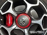 snstyling.com Aufkleber passend für FIAT Abarth Bremssattel Felgen Spiegel Fenster Aufkleber 80mm + 100mm (Weiss)