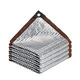 GXYAWPJ- Vela Sombra Aislamiento Anti-UV Espesado Borde Cinta Reflectante de Aluminio Sombra Solar Tasa de Sombreado del 90% para Patio Barn Kennel Car Bloqueador Solar Malla (Size:3×3m)