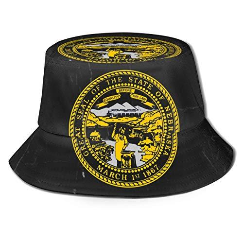 GYHJH Bandera de Nebraska Sombrero de Pescador Sombrero de Playa de Viaje Plegable para el Sol