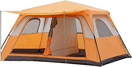 Charhoden  SQ-102-O TXZ-0029 One Bedroom and One living Room  Outdoor Camp automatic outdoor camping tent Square extra large space leisure tent 3-4Person camping tent - Orange, Large