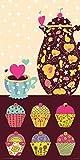 Culturenik Sweet Cakes Teekannen-Cupcakes, dekoratives