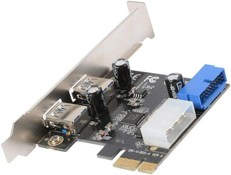 Shipping included KOOBOOK 1Pcs PCI-E to USB 3.0 Manufacturer OFFicial shop Expansion Card Dual with P