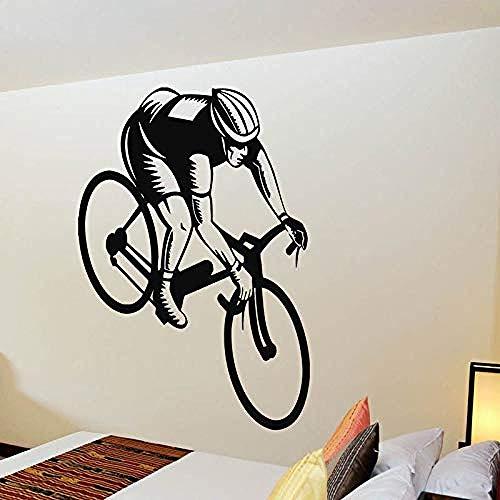 55x87 cm colgante de pared colgante de pared bicicleta ejercicio gimnasio etiqueta de la habitación etiqueta de la pared de vinilo extraíble