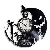 Olha Art Design Jack Skeleton Ornament Clock - The Nightmare Before Christmas Kids Clock, Jack and Sally Decor, The Nightmare Before Christmas Women Ornaments