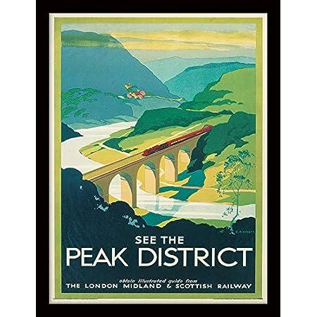 TX272 Vintage Monsal Dale The Peak District LMS Railway Travel Poster A2//A3//A4