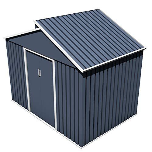 Gardiun KIS12987 - Caseta Metálica Windsor 5,44 m² Exterior 193x282x222 cm Acero Galvanizado Gris Antracita