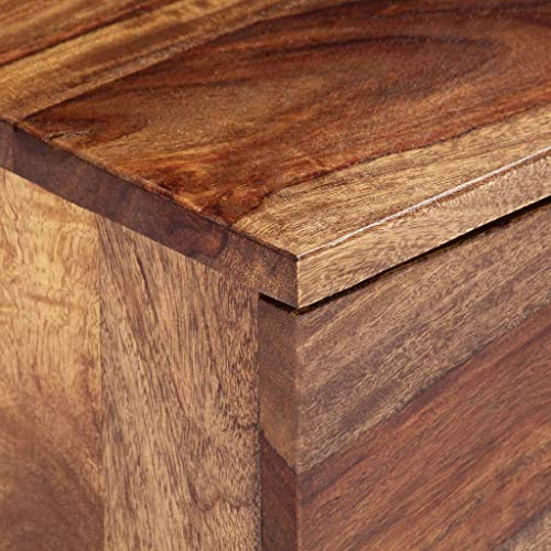 vidaXL Sheesham-Holz Massiv TV Schrank mit 2 Schubladen TV Tisch Möbel Board Fernsehtisch Fernsehschrank Lowboard Sideboard 145x30x30cm Palisander