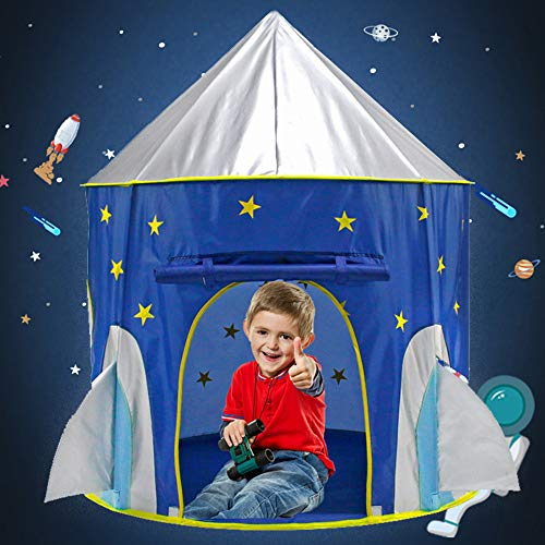 VBY Kids Play Tent Indoor Playhouse Princecss Castle - Rocket Ship Tents & Unicorn Fantasy Tents for Boys Gils, Toddler Birthday Gifts