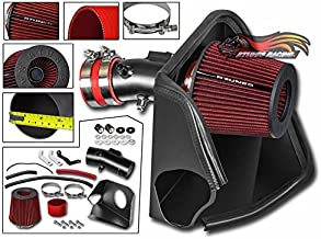 Velocity Concepts Cold Heat Shield Air Intake Matte Black + RED Filter For 07-12 Nissan Altima with 3.5L V6