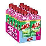 Ajax Detersivo Pavimenti Limone Ultrasgrassante, Detergente Liquido...