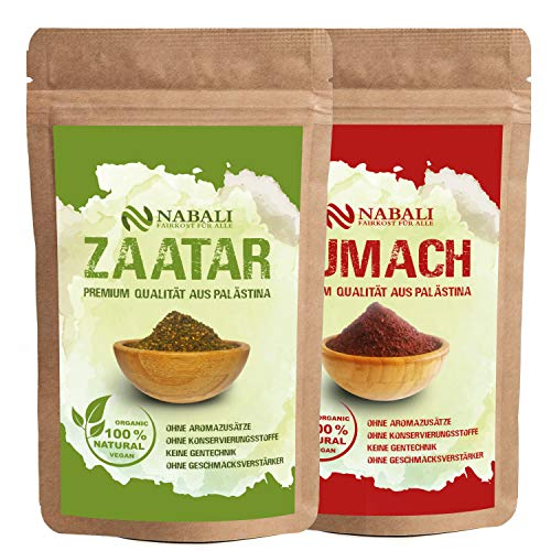 NABALI FAIRKOST FÜR ALLE Zaatar & Sumach nach Ottolenghi Qualitätsware aus Palästina I 100% naturell aromatisch traditionell orientalisch I ohne Konservierungsstoffe I vegan (je 100 Gr)
