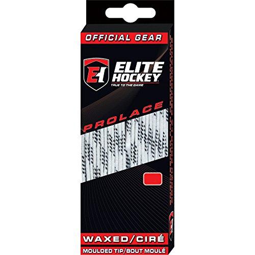 Elite Hockey Prolace Waxed Hockey Skate Laces (White, 120)
