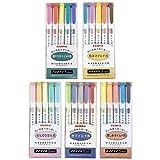 Zebra Mildliner Textmarker-Set, 25 Pastellfarben