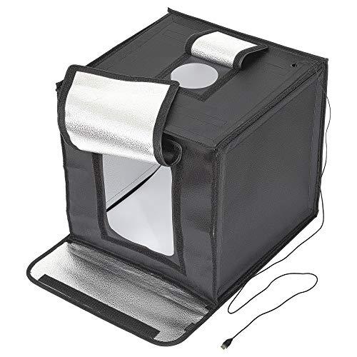 【Amazon.co.jp限定】 HAKUBA 撮影ボックス LEDライト 44×43×59cm 折りたたみ式 背景紙3色付き AMZLEDSBX