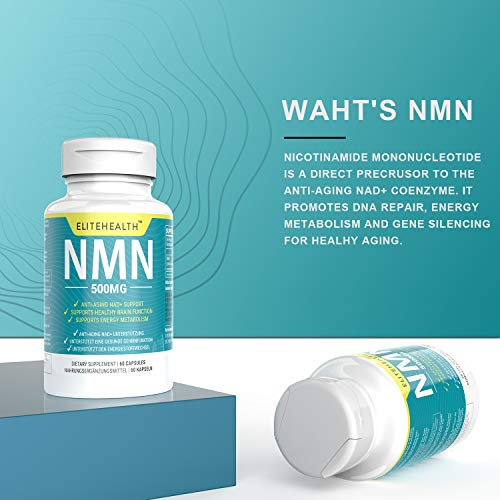 51Q nzW4HrL - One Bottles PUREST NMN for NAD Support | 60 Grain |Each Capsules 250mg | Supplement for Anti-Aging & Energy Metabolism | Vegan Friendly (1 Pack)