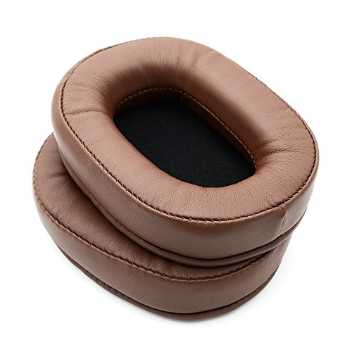 Almohadillas de repuesto compatibles con Audio-Technica ATH-MSR7 ATH-MSR7BK almohadillas para auriculares (marrón)