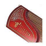 NOLOGO Qyzs-lj Guzheng, afrikanische Sandelholz Rote Blume Birne farbener Zither, Geschnitzte Hohle Palisander Mahagoni Instrument, Profi-Zither (Größe : 170 * 40 * 23CM)