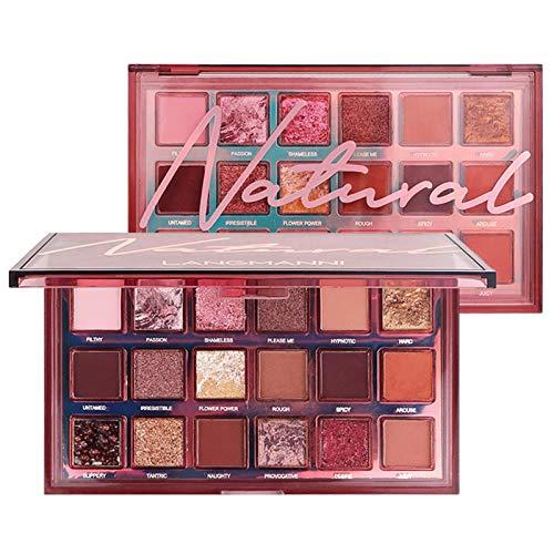 Sunnyushine Paleta de sombras de ojos mate de 18 colores, polvo de sombra de ojos altamente pigmentado, paleta de maquillaje de larga duración, impermeable