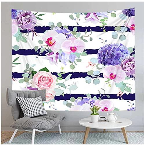 Tapiz by BD-Boombdl Tapiz de flores Alfombra Colgante de pared Toalla de playa Manta Decoración para el hogar Paño Estera de yoga 59.05'x51.18'Inch(150x130 Cm)